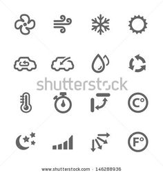 Simple set of air conditioning related vector icons for your design. by davooda, via Shutterstock