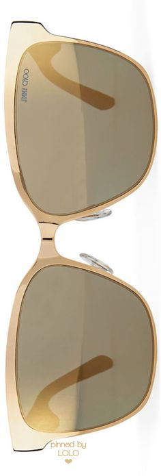 Jimmy Choo Kiera Mirror Logo-Temple Sunglasses | LOLO❤︎