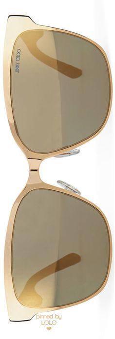 Jimmy Choo Kiera Mirror Logo-Temple Sunglasses | LOLO❤︎