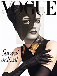Fashion loves surrealism. Vogue Italia February 2012 Cover , Laura Kampman by Steven Meisel