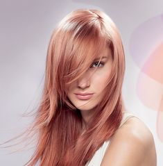 cheveux blond rose
