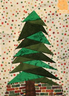 Foundation pieced pattern Christmas Tree