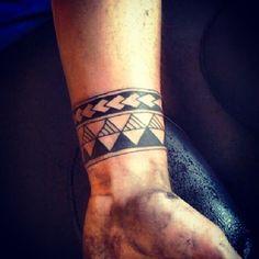 armband tattoos | Tribal Armband Tattoo For Men #polynesiantattoos #TattooIdeasForGuys