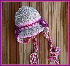 Girl Hat Scarf and Fingerles Mittens SET  GRAY by mybabyhats, $39.00