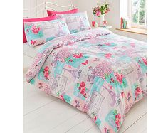 Parisienne Patchwork Pink Duvet Set Single