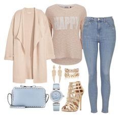 """""""Happy"""" by lamodaesvida-02 ❤ liked on Polyvore featuring ONLY, Kofta, Topshop, Valentino, Steve Madden, OMEGA, River Island and Stephen Webster"""