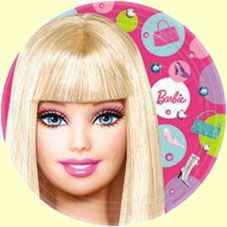 Barbie plates Ella is having for her birthday :)