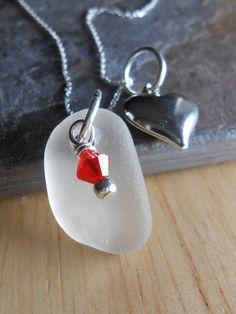Sea Glass Jewelry  Seaglass Cluster Necklace by SeaFindDesigns, $33.00