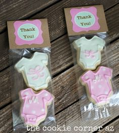 Baby Shower cookies.  For a baby girl!