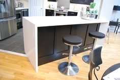 COXSON-McINNIS Kitchens, Cabinetry & Millwork is the kitchen remodeller of choice in Burlington, Ontario. We'd love to share our kitchen ideas with you. Custom Kitchens, Custom Cabinetry, Contemporary, Table, Kitchen Islands, Furniture, Design, Home Decor, Custom Cabinets