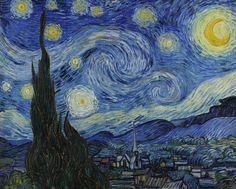 K. Godfrey El artista es Vincent Van Gogh. Fue pintado en junio 1889. El medio es óleo sobre lienzo.  Me encanta esta pintura porque los colores son tranquilas y es muy conocido y fácil de encontrar reproducciones