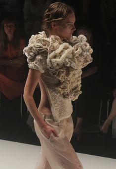 Sculptural Ruffles - Fashion Knitwear Design - MBFW-Dawid-Tomaszewski 2013