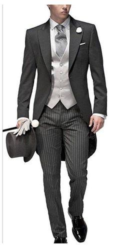 Men's Tuxedo Wedding, Best Wedding Suits, Wedding Men, Wedding Tuxedos, Formal Wedding, Trendy Wedding, Dress Wedding, Wedding Black, Wedding Groom