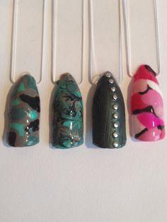 Military nail designs Military Nails, Camouflage Nails, Mommy Style, Nails Design, Nail Art, Beauty, Nail Arts, Beauty Illustration, Camo Nails