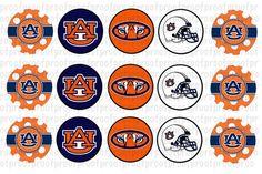 Auburn Tigers Inspired Bottle Cap Images by DigitalDesignsByA