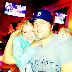 Pictured: Matthew and Kelly Stafford