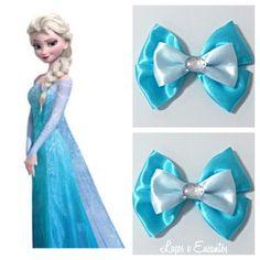Laço Princesa Elsa | Laços e Encantos | Elo7