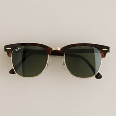 Ray-Ban Clubmaster sunglasses $145 - J Crew says these are men's sunglasses but I don't really care.