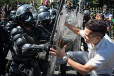 Demonstrators clash with riot police during the Independence Day parade in Rio de Janeiro, Brazil. Other countries get to have all the fun riots...