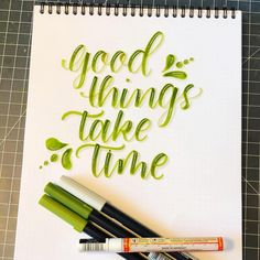 Tante S!fr@ loves this pin This one is sometimes difficult for me, I need to slow down and take things one at a time! Calligraphy Quotes Doodles, Brush Lettering Quotes, Brush Pen Calligraphy, Calligraphy Cards, Calligraphy Drawing, Hand Fonts, Handwritten Fonts, Hand Lettering Alphabet, Drawing Quotes