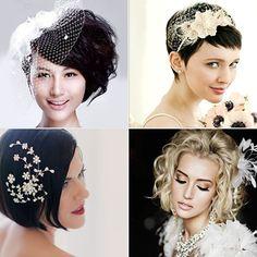 Son yıllarda, kısa saç trendi sıkça karşımıza çıkıyor. Kısa saçlı gelinler için önerilerimize göz atabilirsiniz.