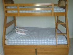 Joseph Maple Triple 3 Sleeper Hardwood Bunk Bed With Drawers