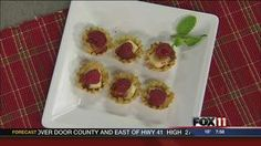 Raspberry Brie Tarts #recipe from WLUK FOX 11 Good Day Wisconsin Cooking with Amy Hanten. #recipes #video