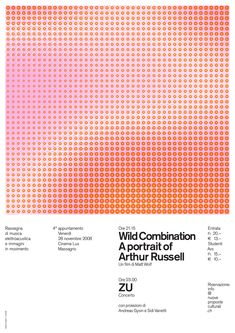 A very well-designed poster on the subject of one of my favourite musicians, the late Arthur Russell. The design alludes to the cover of his most experimental album, World of Echo.
