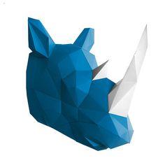 My design inspiration: DIY Rhino Taxidermy Blue White on Fab.