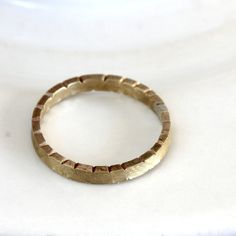 Brass ring unique notched ring by PraxisJewelry on Etsy Praxis Jewelry Allison Cecil