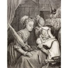 Scene From Sleeping Beauty By Charles Perrault The Princess Finds An Old Woman Spinning Not Knowing She Is Really The Wicked Fairy In Disguise After A Work By Gustave Dore From El Mundo Ilustrado Publ