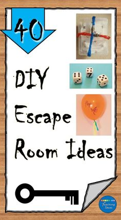 40 escape room ideas for kids or even adults. DIY escape room puzzles and ideas using materials from around your house to create an escape room your players won't soon forget. Escape Room Diy, Escape Room For Kids, Escape Room Puzzles, Kids Room, Mystery Escape Room, Activities For Adults, Indoor Activities, Indoor Games, Summer Activities