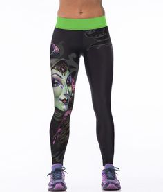 27fddf5b9b4477 clothing free shipping Picture - More Detailed Picture about Digital  PrintingElastic Casual Pants Witch face Pattern Women Leggings 7 sizes 2017  Fitness ...