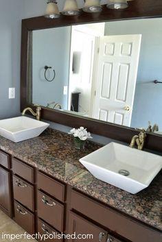 Bathroom Mirror And Backsplash Idea | For The Home | Pinterest | Backsplash  Ideas, Bathroom Mirrors And House