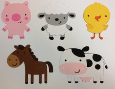 Farm Barnyard Birthday Decorations Package/Lot by TheGirlNXTdoor
