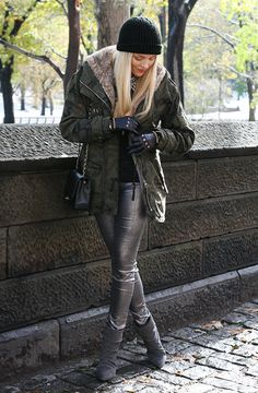 shea marie cheyenne meets chanel identify new york snow zara army camo fashion blogger blog style nyc  army1