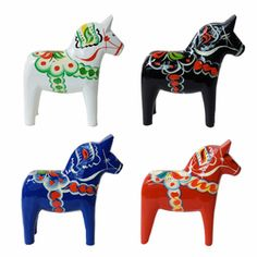 My mother and grandmother had these painted horses from Sweden.  My girls are drawn to play with them when we visit Nana's house.