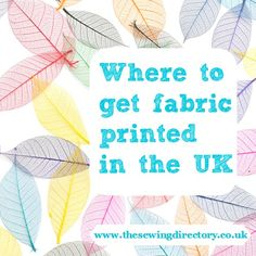 Create your own unique fabric for that special project. Find a list of places you can get fabric printed here.