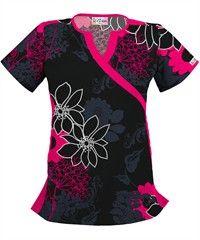 Love it...and the price!! UA Flower Harmony Black Print Scrub Top. $14.99
