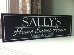 Home Decor Welcome Sign Home Sweet Home Sign by SugarCreekLane