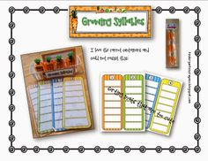 """Growing Syllables"" (from Kindergarten Crayons)"