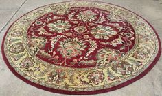 Hand Knotted Rajasthan Wool Oriental ROUND Rug 7.9 x 7.9 ft  #Unbranded #Rajasthan