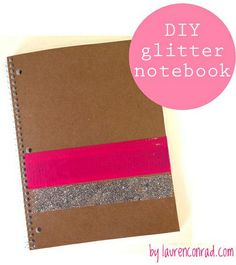#DIY Glitter Notebook perfect for the office or school