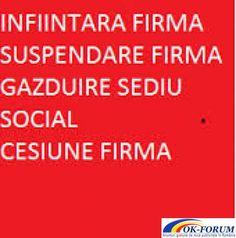 infiintari firme, pfa, sedii sociale, cesiuni,srl,contabilitate | Ok-forum.ro - Anunturi gratuite de mica publicitate in Romania. | Servicii de Contabilitate | Bucuresti Sector 1 | Ilfov | Romania