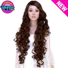 """Cosplay Wigs USA™ <br> Curly 90cm/36"""" - Brown Mix"""
