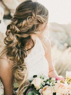Stylish wedding hairstyle idea; via Hair & Makeup by Steph