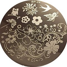Charming+Spring+Nail+Art+Stamp+Template+Image+Plate+Nail+Stamping+Plate+BORN+PRETTY+BP24+–+USD+$+2.99