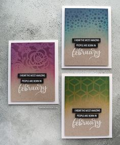 Personalized birthday cards! Ink Blended Stenciling with Distress Inks – kwernerdesign blog