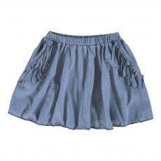 Prairie Fringed Skirt Indigo blue
