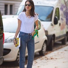 Parisienne: HOW TO STYLE A WHITE TSHIRT